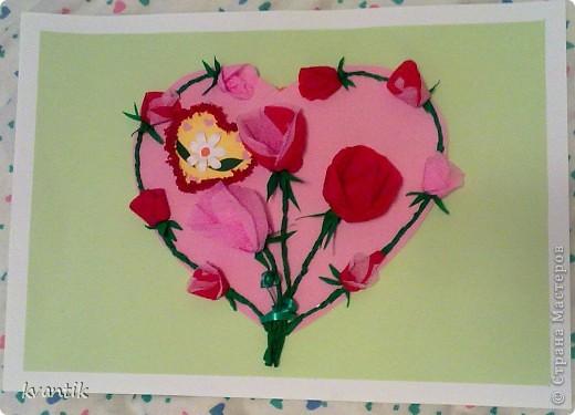 Коллективная работа Кусудама Раннее развитие Валентинов день Оригами Торцевание Наши поделки на Валентинов день Клей Нитки фото 7