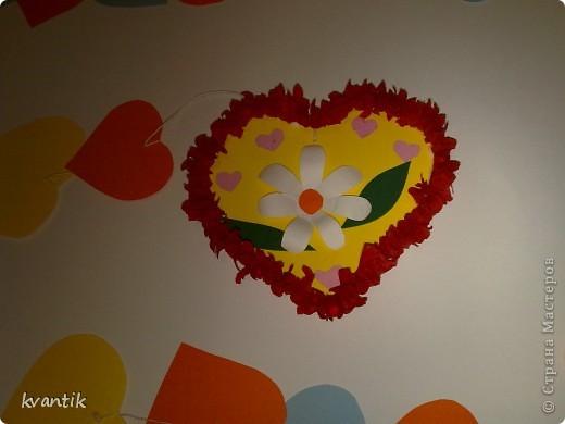 Коллективная работа Кусудама Раннее развитие Валентинов день Оригами Торцевание Наши поделки на Валентинов день Клей Нитки фото 6