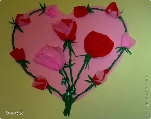 Коллективная работа Кусудама Раннее развитие Валентинов день Оригами Торцевание Наши поделки на Валентинов день Клей Нитки фото 2