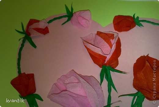 Коллективная работа Кусудама Раннее развитие Валентинов день Оригами Торцевание Наши поделки на Валентинов день Клей Нитки фото 4