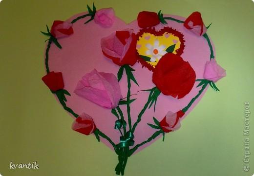 Коллективная работа Кусудама Раннее развитие Валентинов день Оригами Торцевание Наши поделки на Валентинов день Клей Нитки фото 1