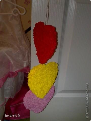 Коллективная работа Кусудама Раннее развитие Валентинов день Оригами Торцевание Наши поделки на Валентинов день Клей Нитки фото 10