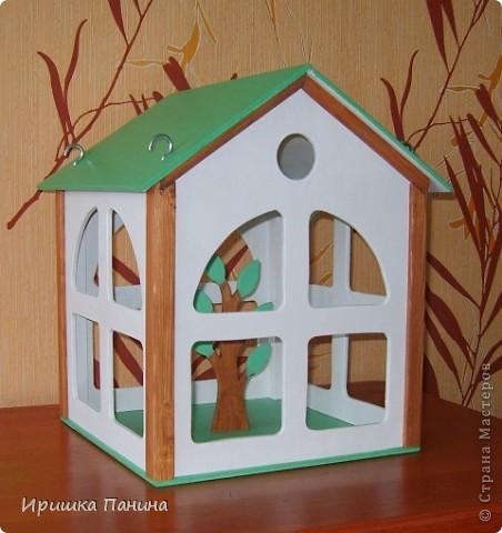 Кормушка-домик для птиц! фото 1