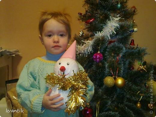 Снеговик от Кати (6 лет) в группу фото 4