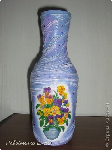 На ваш суд еще несколько ваз, капроновые колготки, краска акриловая, салфетки, стразы, микро бисер, бусины, декоративные камни, лак.  фото 5