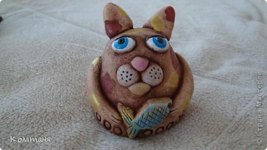 Поделка из глины кот