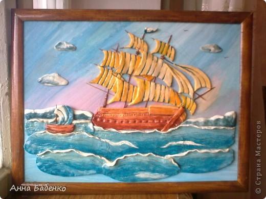 Корабль сделан по МК Ларисы Ивановой.  фото 1