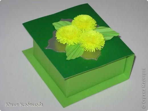 Вот такая коробочка у меня получилась. Большое спасибо за МК по изготовлению подобных коробочек Elene.ost.  фото 1