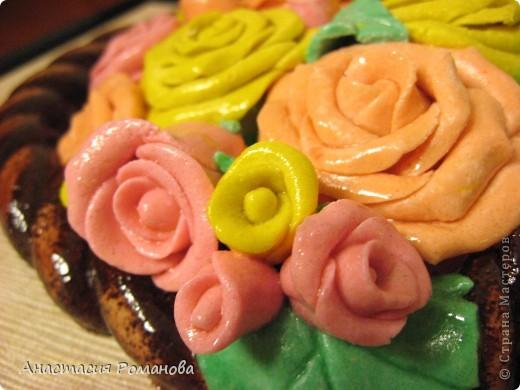 Эту корзиночку роз сделала в подарок маме на 8 марта. фото 3