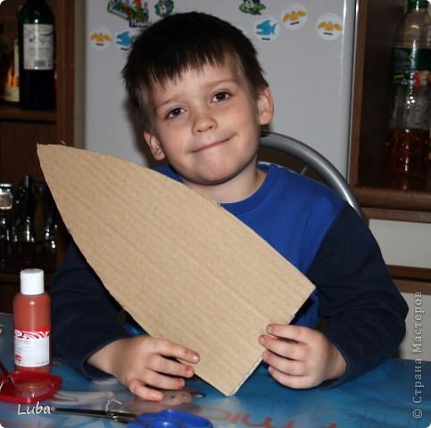 Еще одно творчество и как идея, чем можно занять ребенка! Корабль из деревянных прищепок!  фото 4
