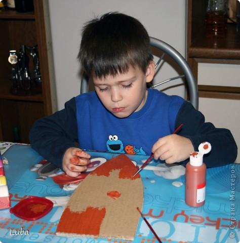 Еще одно творчество и как идея, чем можно занять ребенка! Корабль из деревянных прищепок!  фото 5