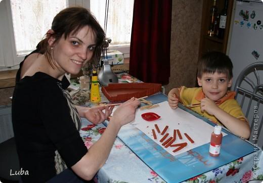 Еще одно творчество и как идея, чем можно занять ребенка! Корабль из деревянных прищепок!  фото 10
