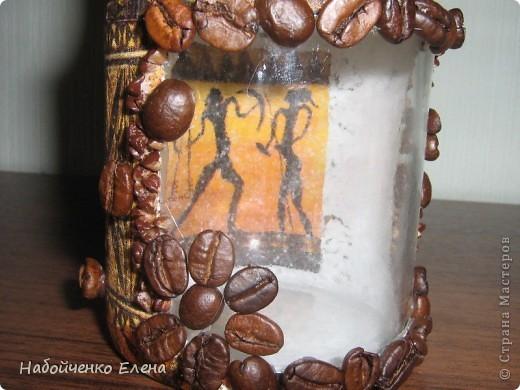 Вот такие баночки для кофе, хочу подарить мужчинам на 23 февраля, еще не покрыла лаком - нужны некоторые доработки, хотела спросить совет - нужно еще что-то добавлять или нет? фото 11