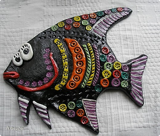 Это моя первая работа из соленого теста,Увидала каких рыб делают ваши мастерицы и тоже захотелось попробовать! фото 1
