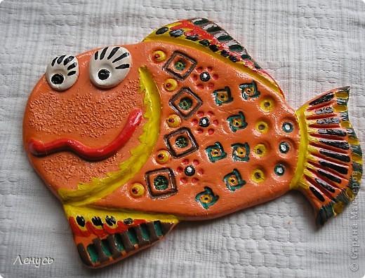 Это моя первая работа из соленого теста,Увидала каких рыб делают ваши мастерицы и тоже захотелось попробовать! фото 3