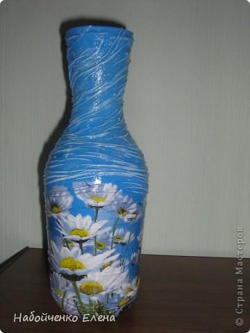 На ваш суд еще несколько ваз, капроновые колготки, краска акриловая, салфетки, стразы, микро бисер, бусины, декоративные камни, лак.  фото 8