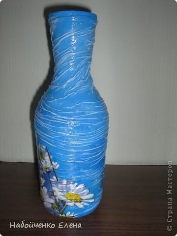На ваш суд еще несколько ваз, капроновые колготки, краска акриловая, салфетки, стразы, микро бисер, бусины, декоративные камни, лак.  фото 9