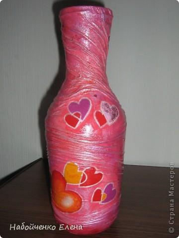 На ваш суд еще несколько ваз, капроновые колготки, краска акриловая, салфетки, стразы, микро бисер, бусины, декоративные камни, лак.  фото 11