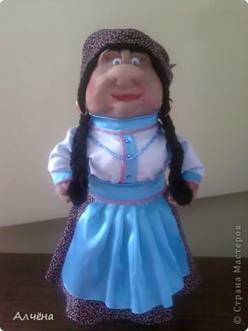 Это моя первая кукла,делала её по МК Ликмы,за что огромное спасибо,должна была получится старушка-пакетница,ну а вот такой итог... фото 1