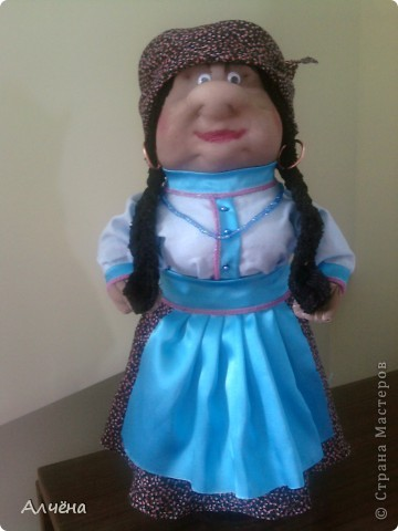 Это моя первая кукла,делала её по МК Ликмы,за что огромное спасибо,должна была получится старушка-пакетница,ну а вот такой итог... фото 3