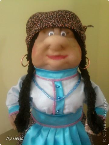 Это моя первая кукла,делала её по МК Ликмы,за что огромное спасибо,должна была получится старушка-пакетница,ну а вот такой итог... фото 2