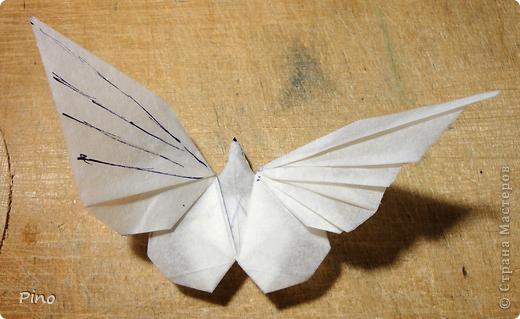 Делаем из верхних крылышек гармошку То есть делим крылышко на пять частей (поделить на 6, как было в схеме у меня не...
