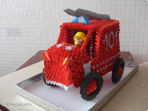 Пожарная машина Бумага