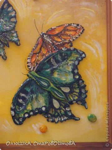 увидела бабочек, нарисованных на ткани, захотелось сделать их из солёного теста фото 3