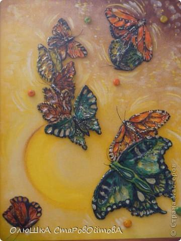 увидела бабочек, нарисованных на ткани, захотелось сделать их из солёного теста фото 2