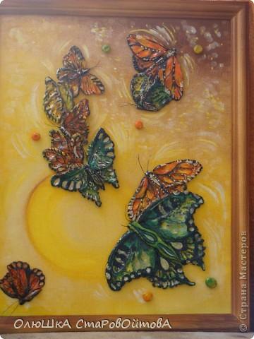 увидела бабочек, нарисованных на ткани, захотелось сделать их из солёного теста фото 5