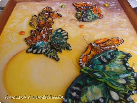 увидела бабочек, нарисованных на ткани, захотелось сделать их из солёного теста фото 4