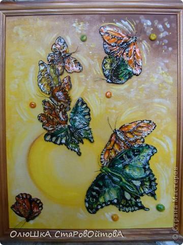увидела бабочек, нарисованных на ткани, захотелось сделать их из солёного теста фото 1