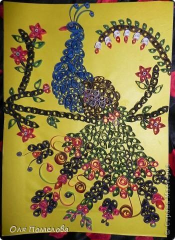 """20 часов не ушли коту под хвост))))) Это моя первая работа, """"Жар птица"""", вдохновлялась работами с этого сайта.  фото 1"""