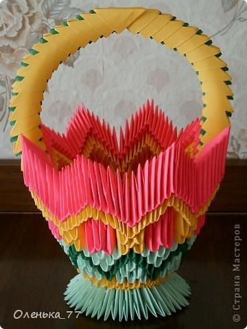 Оригами модульное корзина схемы