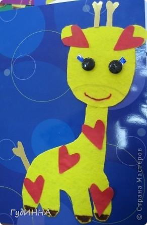 на нашем сердечном жирафе вспоминали как пришивать пуговицы, и работать с тканью фото 2