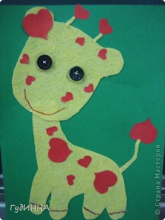 на нашем сердечном жирафе вспоминали как пришивать пуговицы, и работать с тканью фото 3