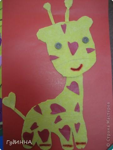 на нашем сердечном жирафе вспоминали как пришивать пуговицы, и работать с тканью фото 4