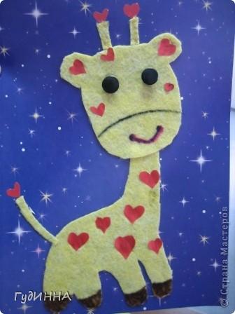 на нашем сердечном жирафе вспоминали как пришивать пуговицы, и работать с тканью фото 1