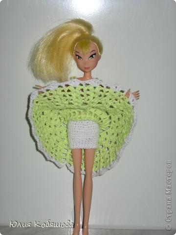 Платье на куклу связано крючком. фото 3