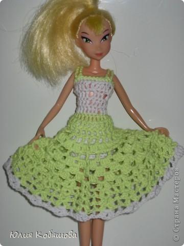 Платье на куклу связано крючком. фото 2