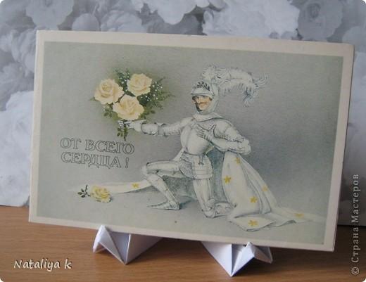 Давно с завистью поглядываю на покупные деревянные подставочки для демонстрации открыток - даже не знаю,как они называются ))) И вот- находка!!! фото 23