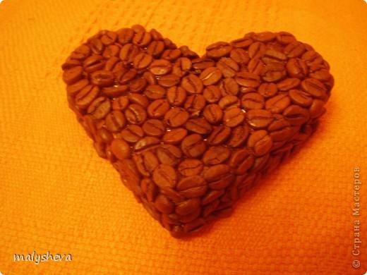 Кофейное сердце.Горшки декорированы акриловой краской. фото 4