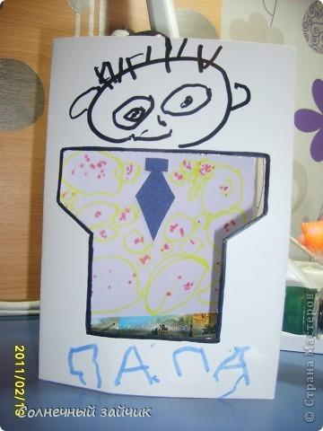 Как всегда поделка в садик. Попросили сделать открыточку, с рисунком ребенка.  фото 4