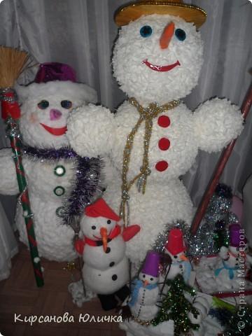 Конкурс снеговиков мой в желтой шляпке. фото 2