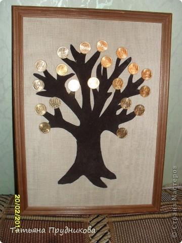 Спасибо огромное за идею Alex2218 ( http://stranamasterov.ru/node/137043?t=1082 )! Такое денежное дерево я сделала в подарок нашим мужчинам в Центре.  фото 1
