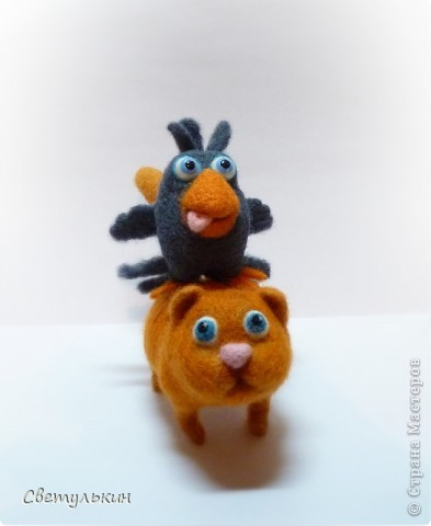 Дракошка, котейка, ну и птичка)) фото 10