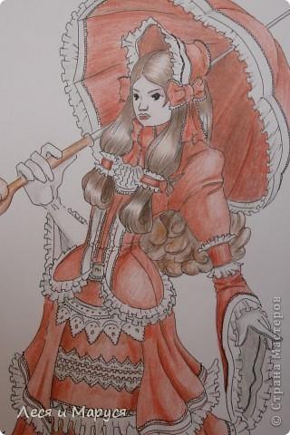 Муж рисовал меня в образе готической девушки фото 1