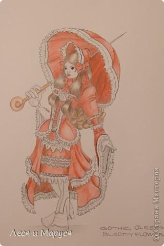 Муж рисовал меня в образе готической девушки фото 2