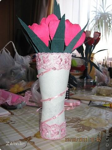 Девочки огромная просьба помогите свежим взглядом чего не хватает этой вазочке. Хочу сделать сладкий букет и подарить в этой вазе заведующей детсадом. Как вы думаете достойный подарок будет или что то другое сообразить. фото 3