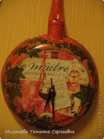 Часы из сковородки,соседке в подарок. фото 2